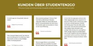 Kunden über Studenten2go