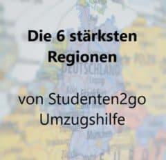 stärkste regionen von studenten2go umzugshilfe