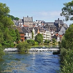 marburg lahn weir upper town town hall historically river hesse 622534 1